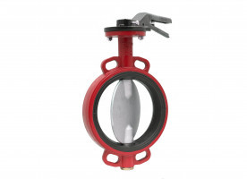 Wafer Vulcanized Butterfly Valve (Stainless Steel Clapper)